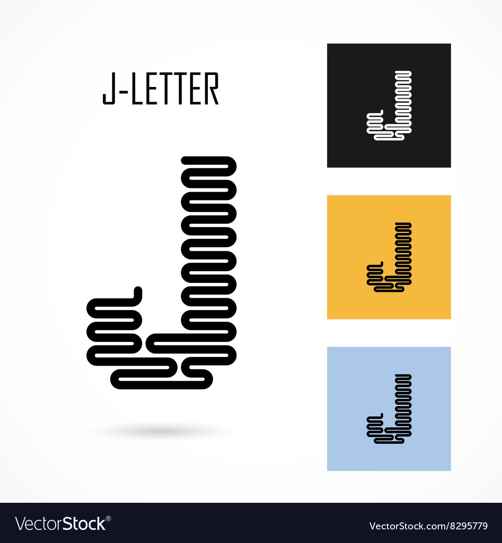 Creative J - letter icon abstract logo design