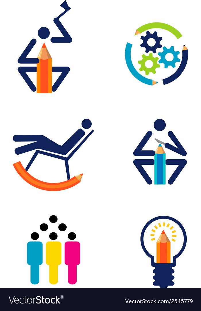 Creativity design icons vector image