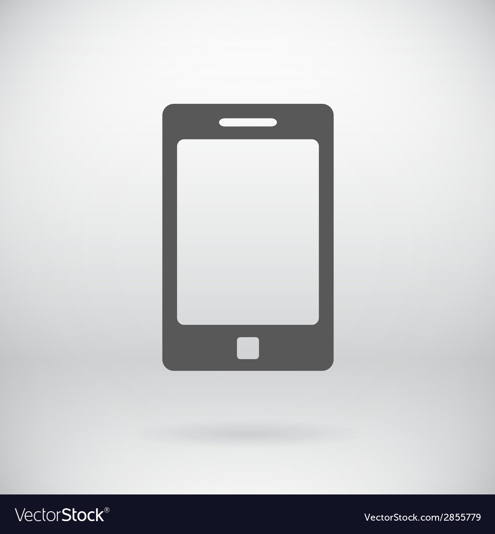 Flat Cell Phone Sign Tablet Symbol Background Vector Image