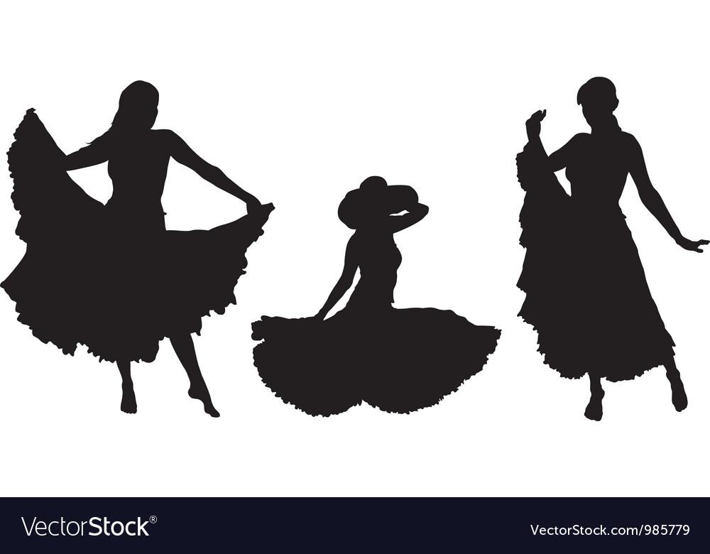Girl in gipsy skirt vector image