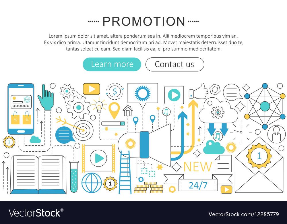 Modern line flat design Promotion concept
