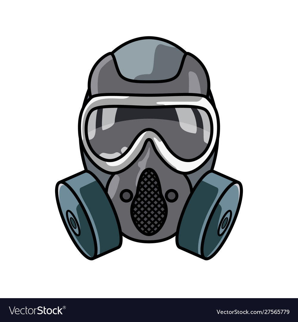 Special forces gas mask isolated