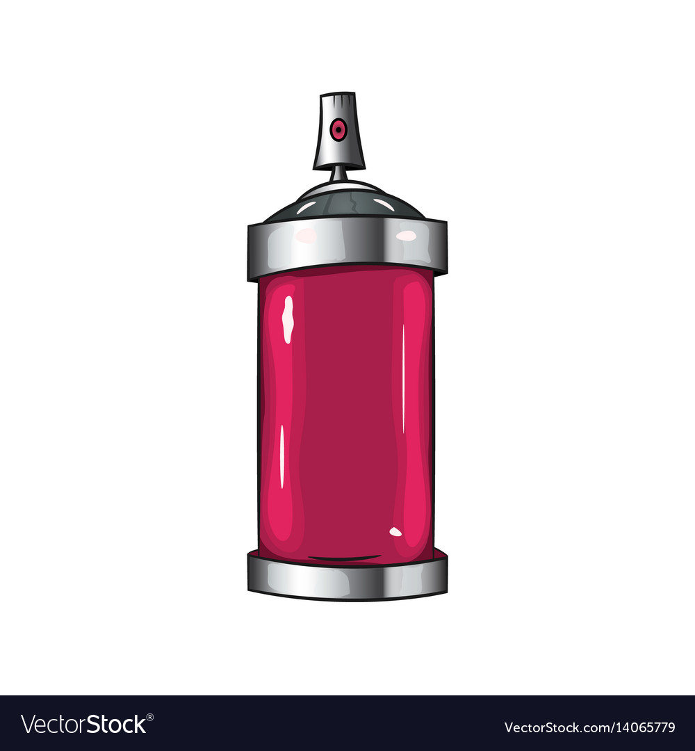 Sprays with pink paint vector image
