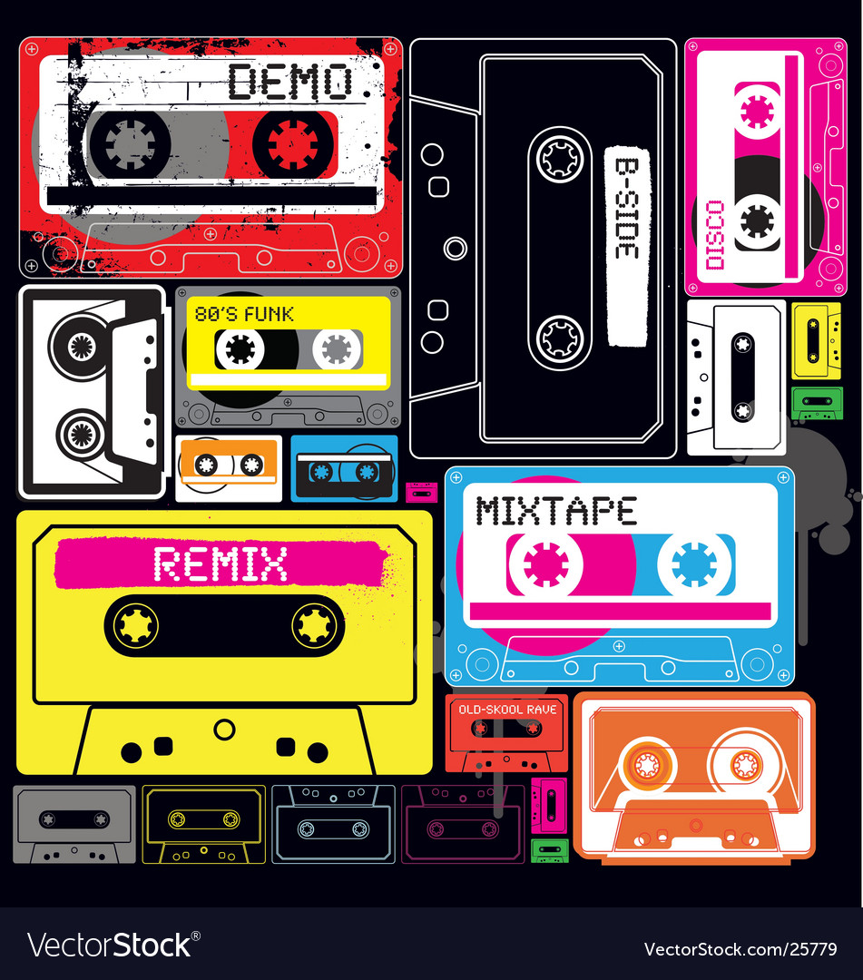 Wall of sound vector image