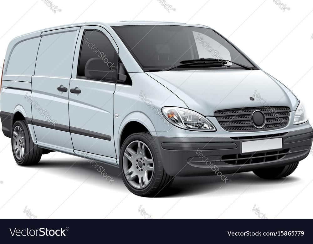White cargo panel van