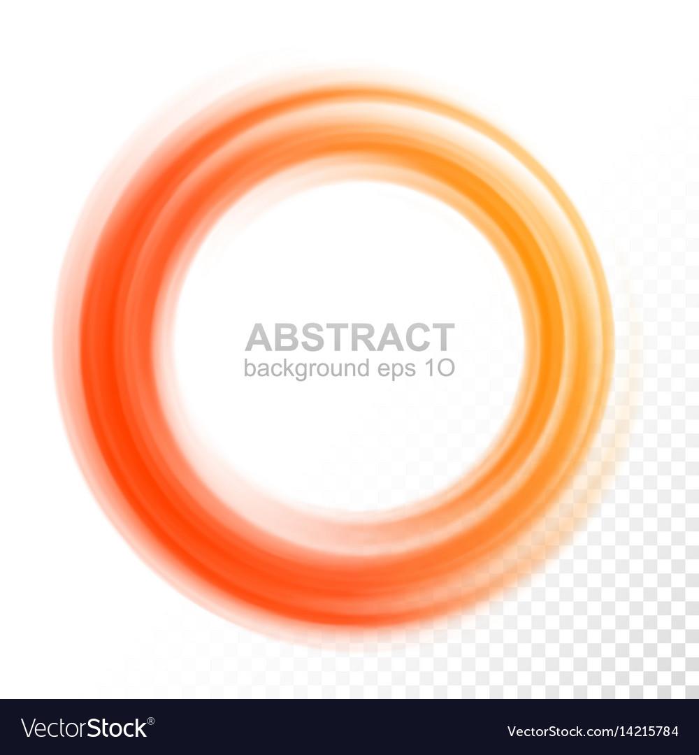 Abstract transparent orange swirl circle vector image