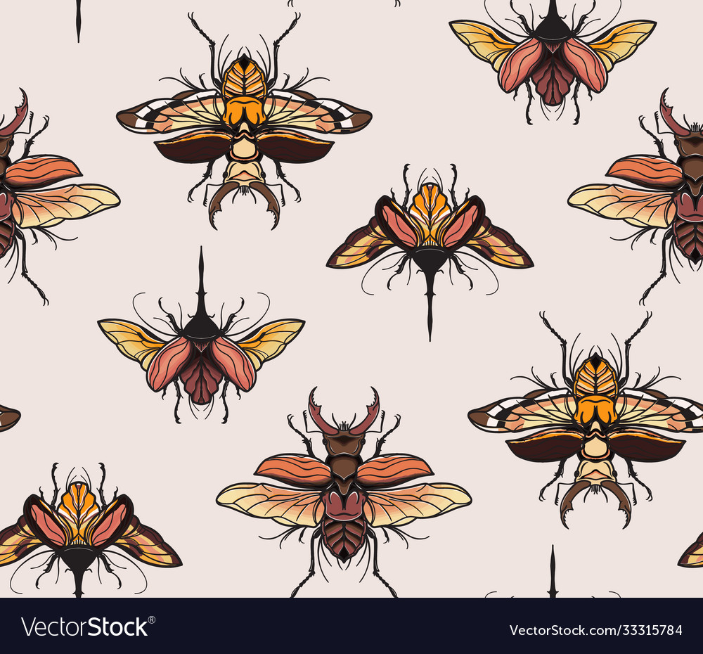 Bugs moth butterfly insect animal seamless