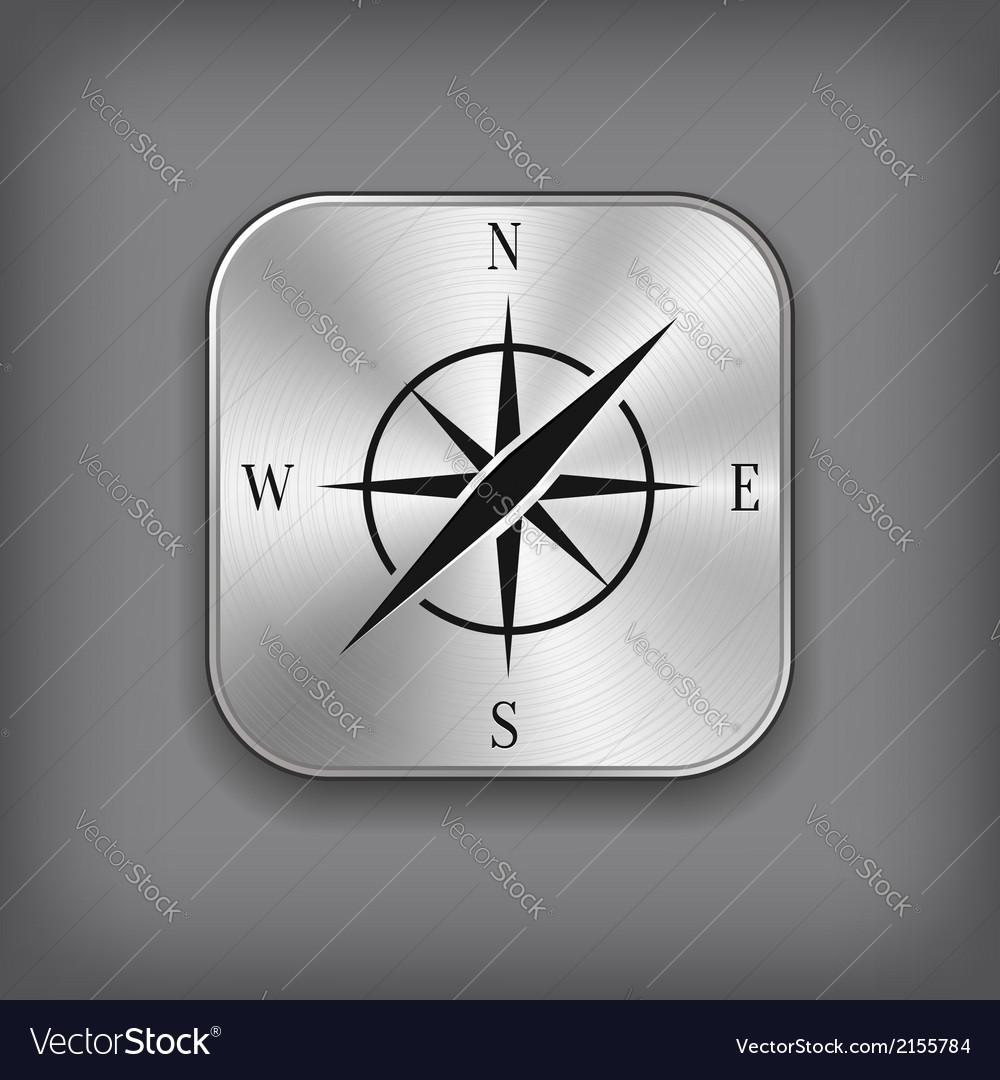 Compass icon - metal app button