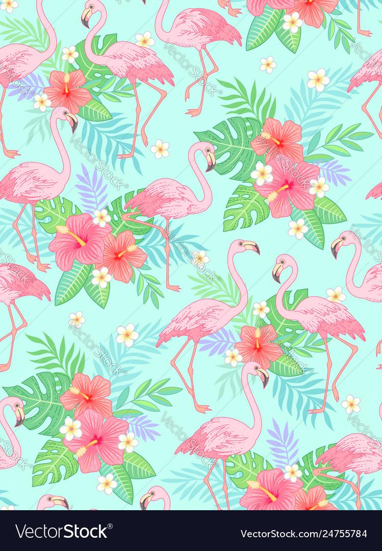 Flamingo tropical pattern