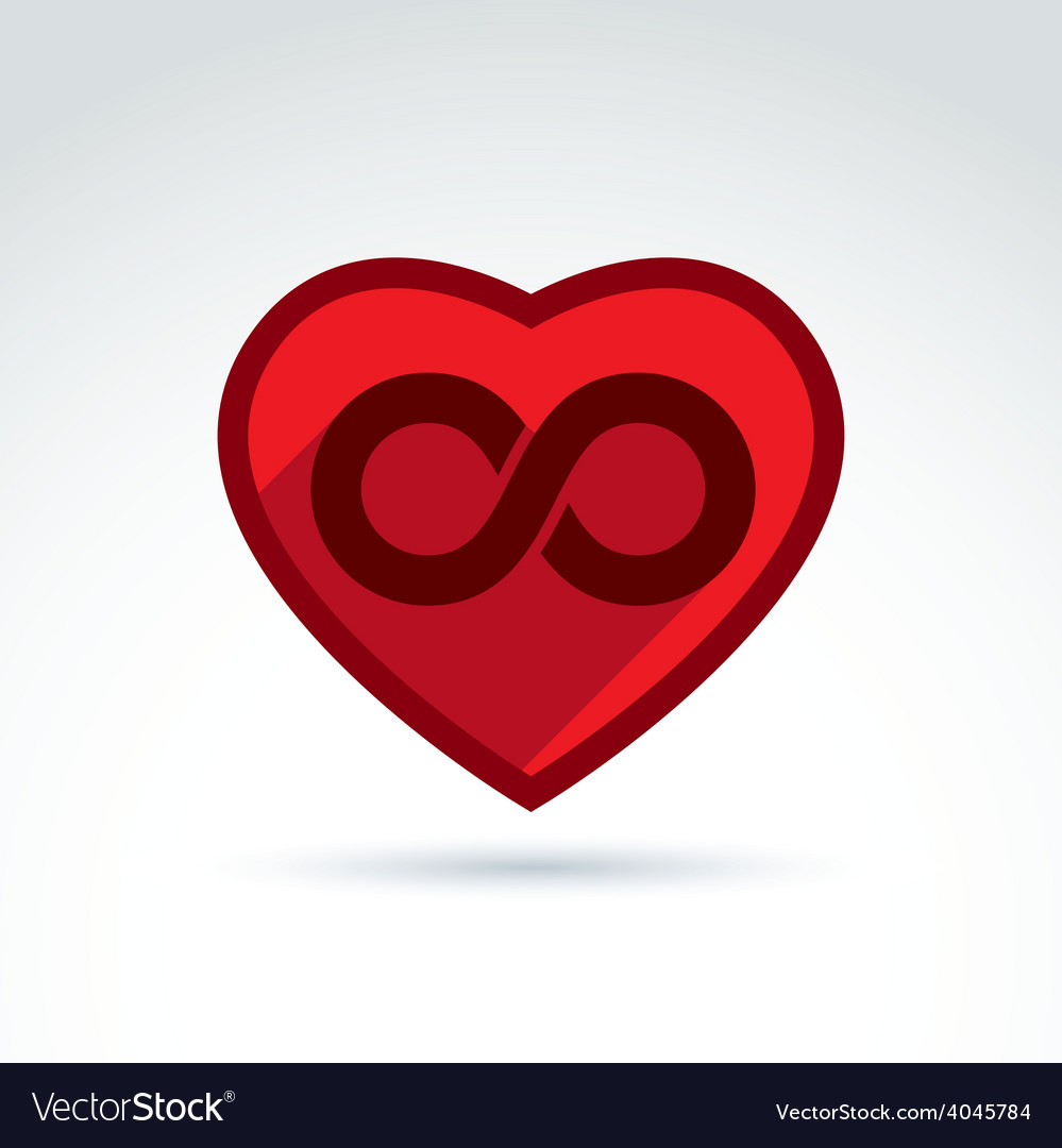 Infinity Icon Eternal Life Idea Of An Ete Vector Image