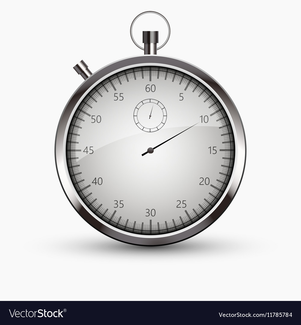 Modern stopwatch icon on white background