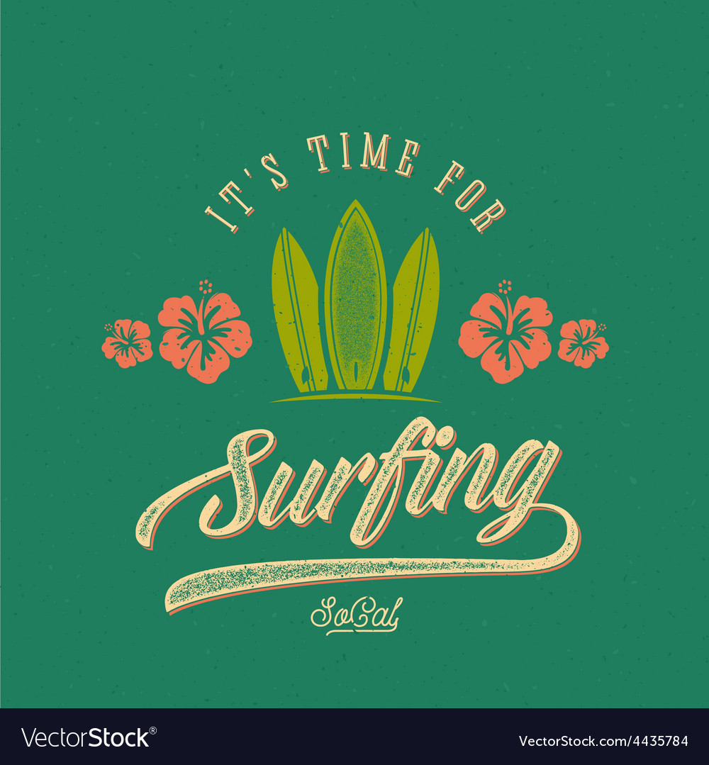 Retro Style Surfing Label Logo or T-shirt