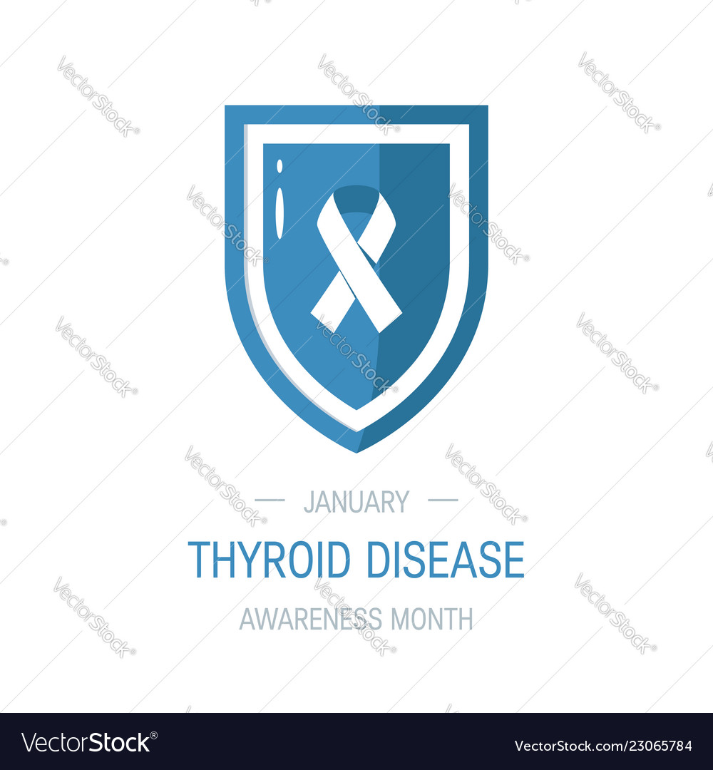 Thyroid Awareness Month Concept Royalty Free Vector Image