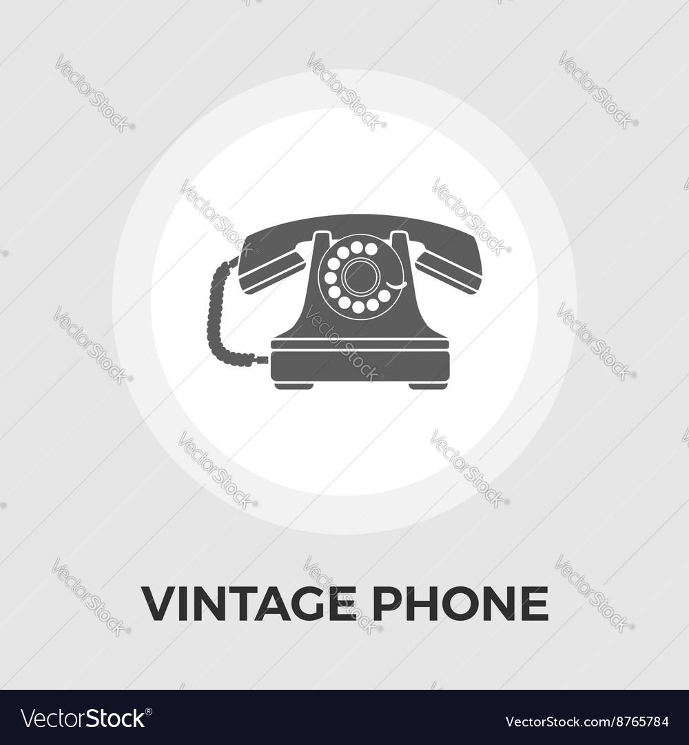 Vintage phone flat icon