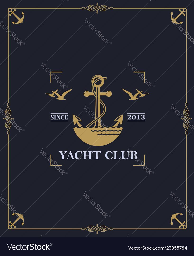 Yacht club label