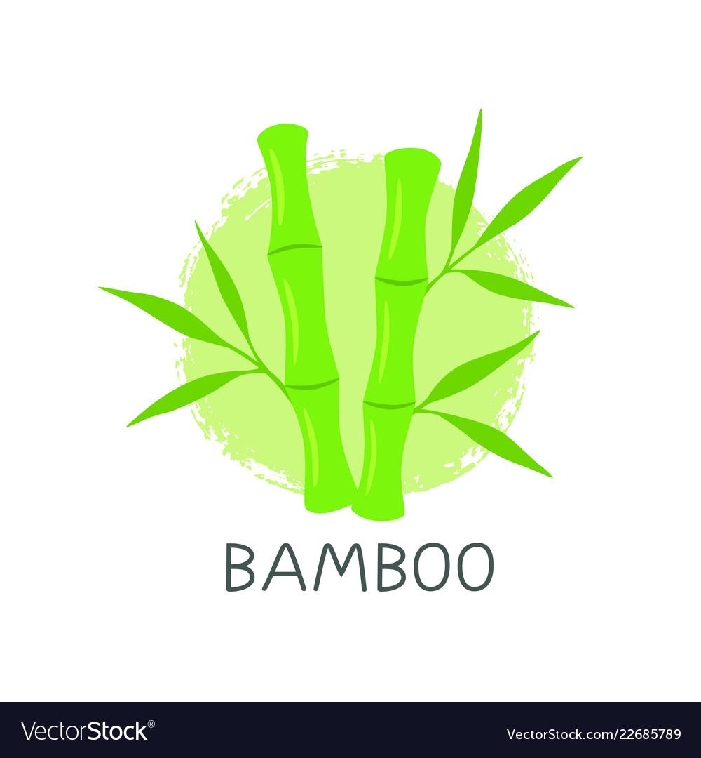 Bamboo logo template design emblem