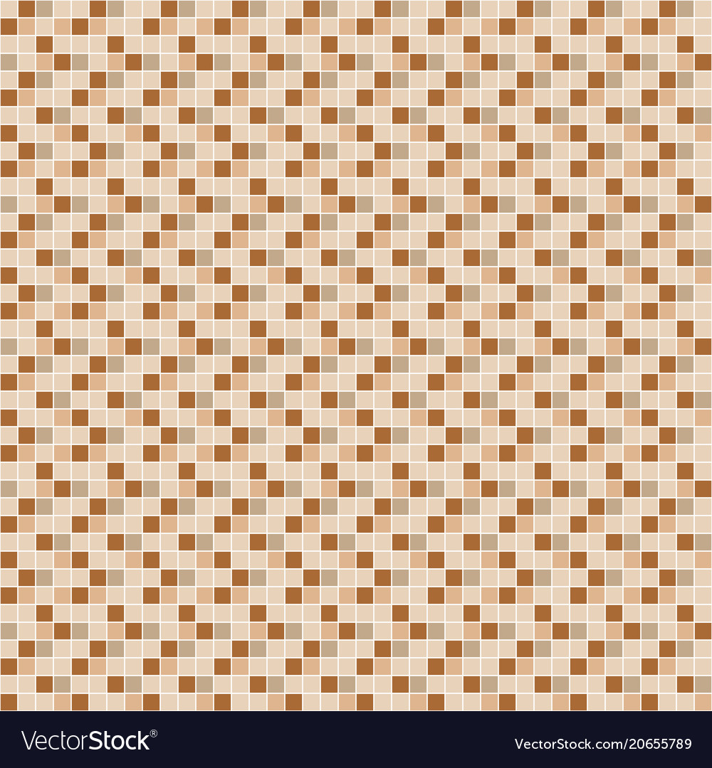Beige And Brown Ceramic Tile Mosaic Pattern Vector Image