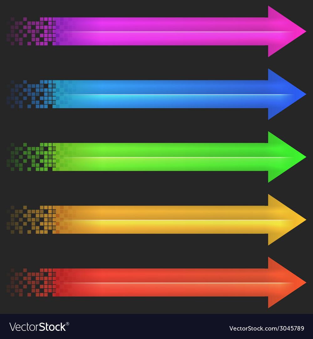 Color arrow pixel