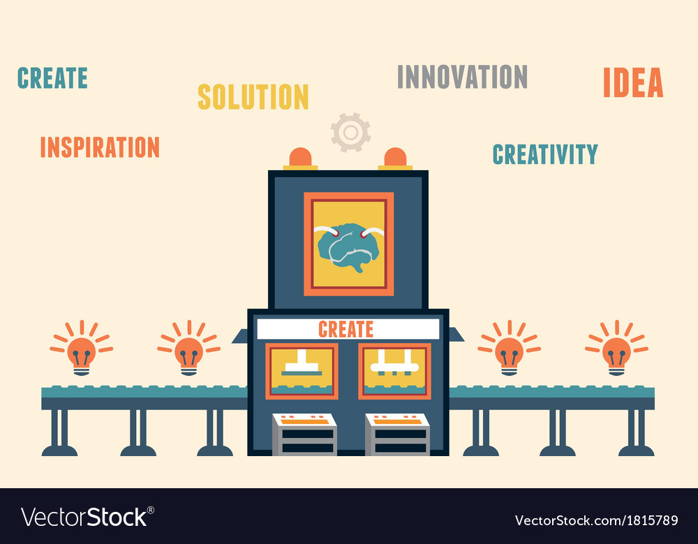 Concept of create ideas Functions of brain vector image