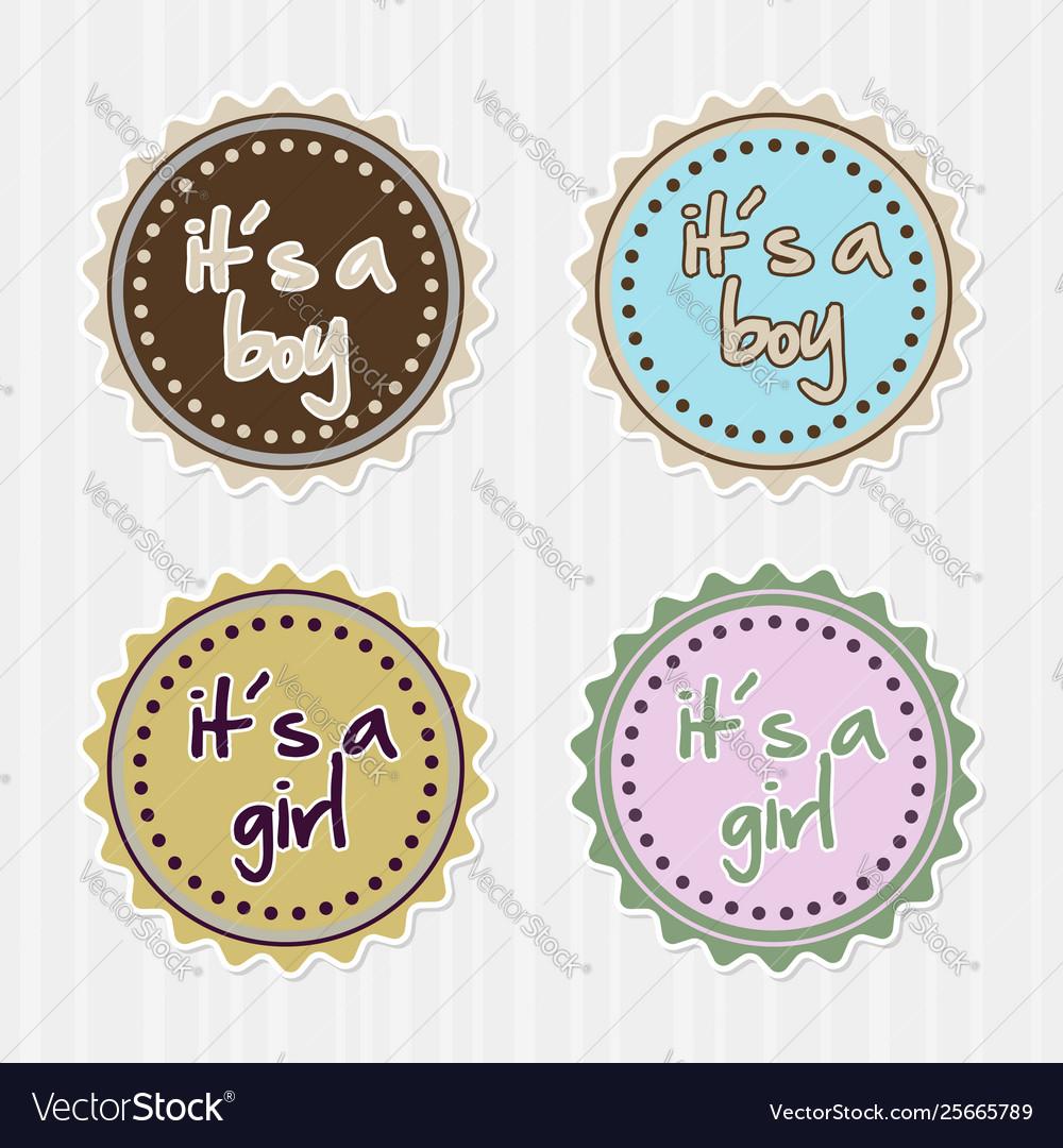 Girl boy badges