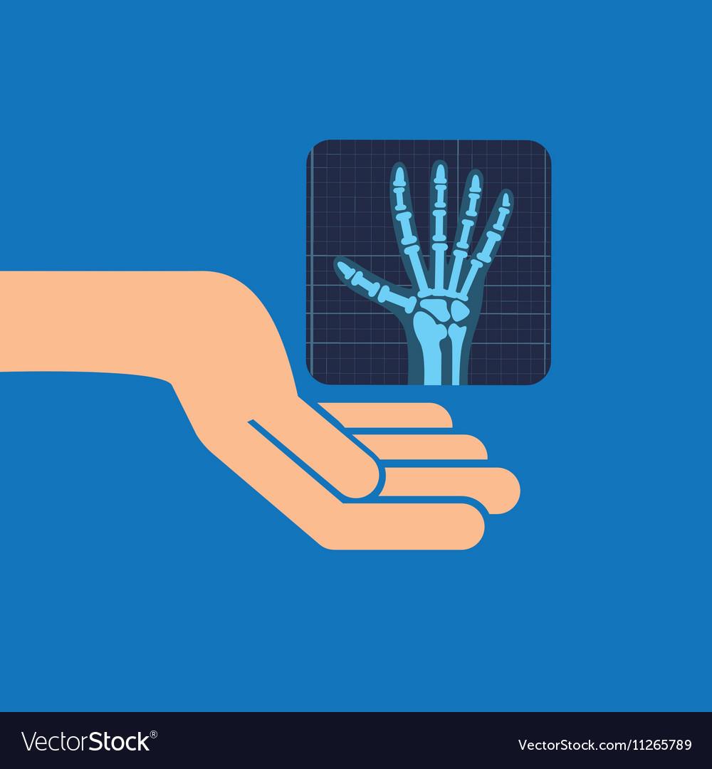 Hands x-ray hand medicine icon