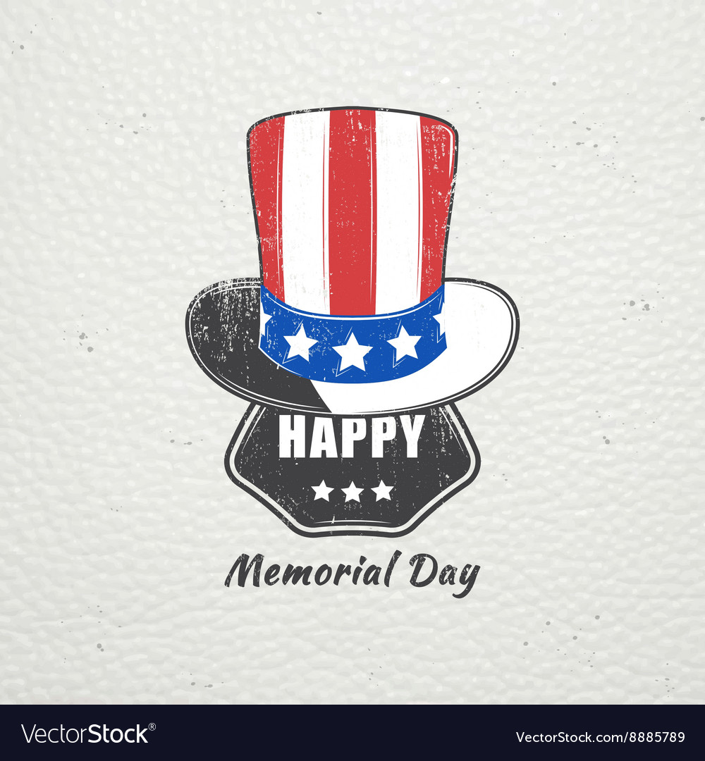 Happy Memorial day set The celebration of
