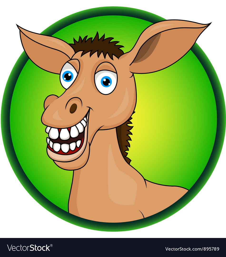 Horse or donkey cartoon