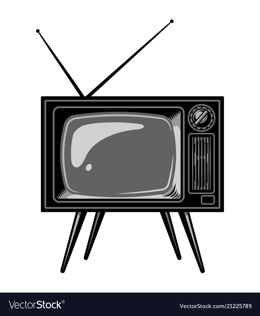 old tv set template royalty free vector image vectorstock