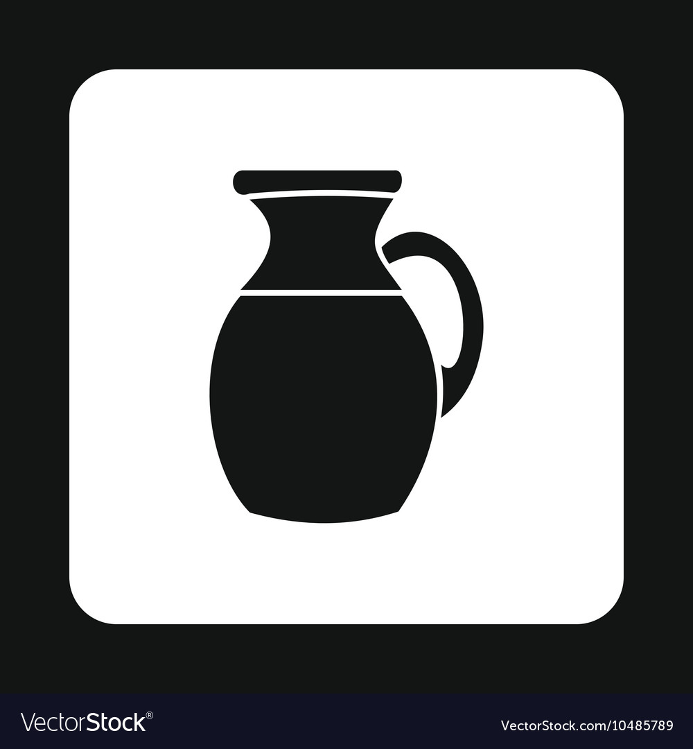 Pitcher icon in simple style