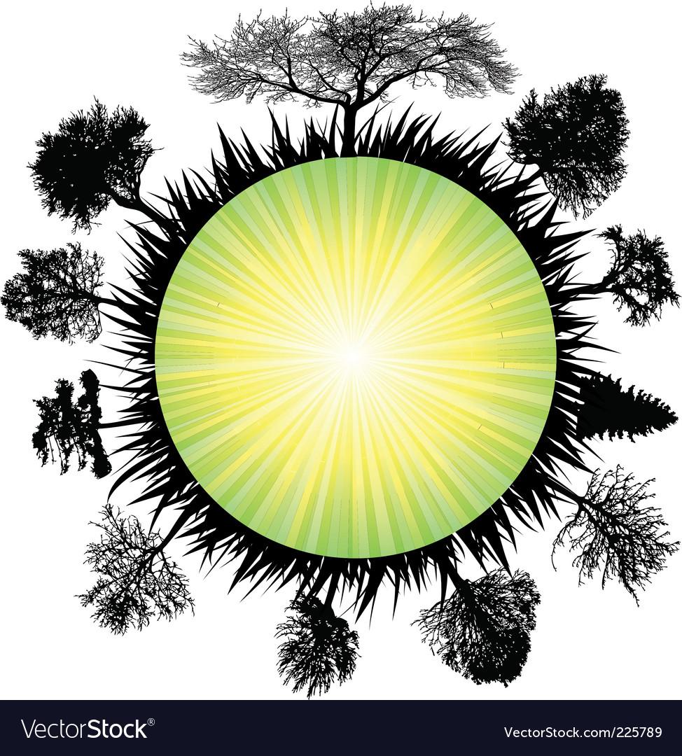 Solar earth tree
