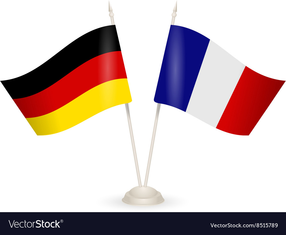 Table stand with flags of Germany and France