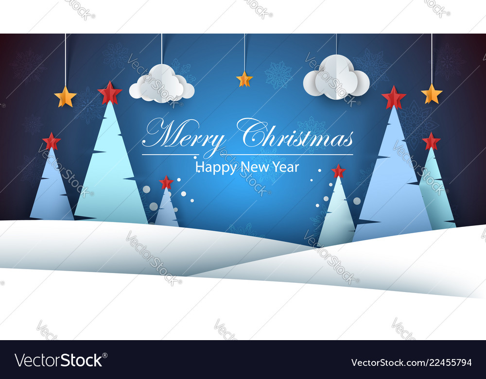 Cartoon paper happy new year merry christmas