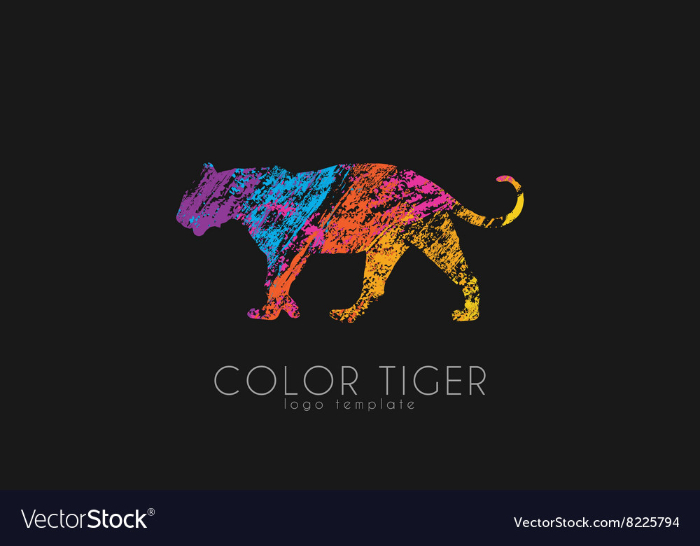 Tiger logo Color tiger design Creative logo vector image