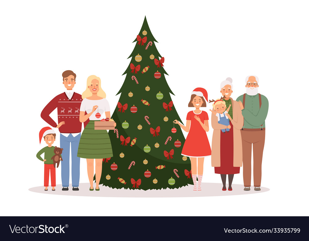 Christmas family mother father kids and