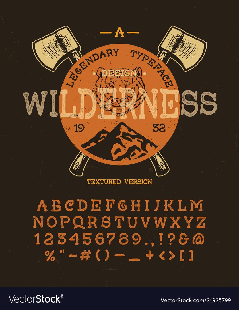 Craft retro vintage typeface design