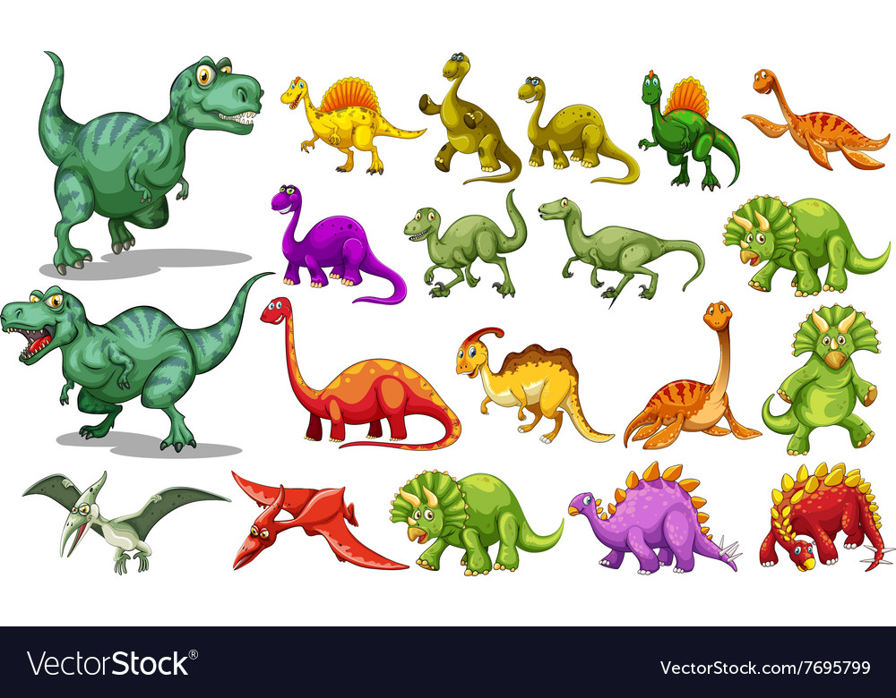 Different kind dinosaurs