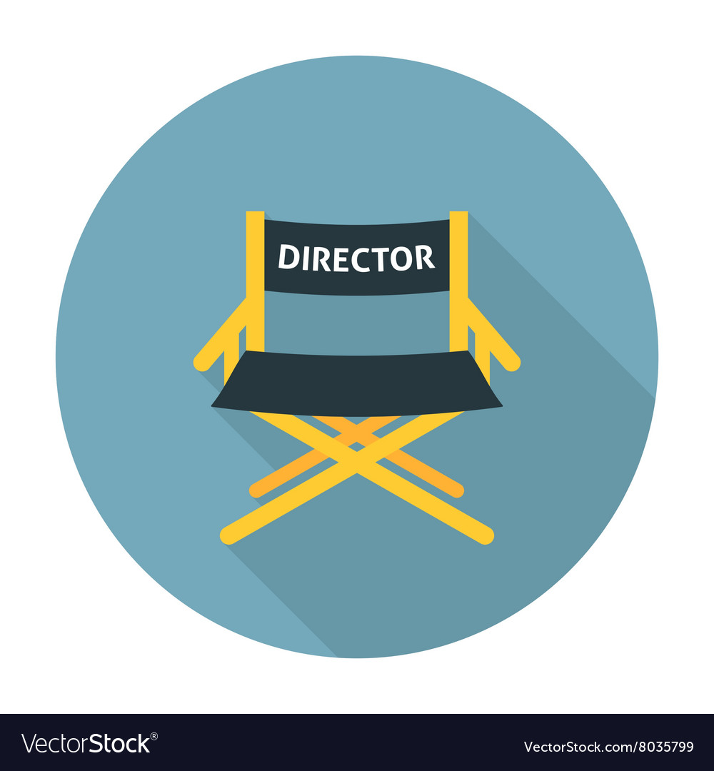 Directors chair flat icon
