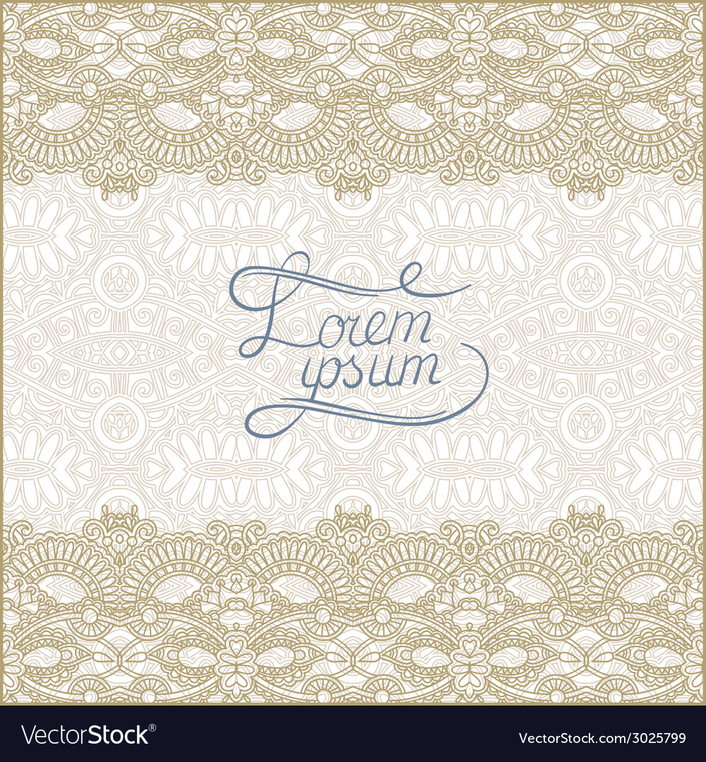 Floral decorative pattern with place for your text