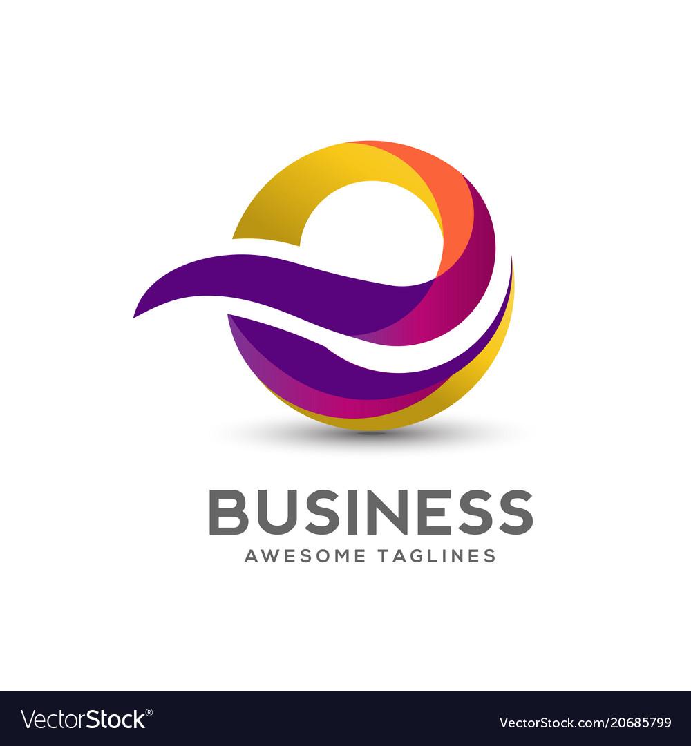 Letter e colorful logo