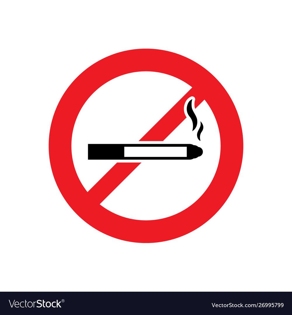 No smoking sign or no smoke icon