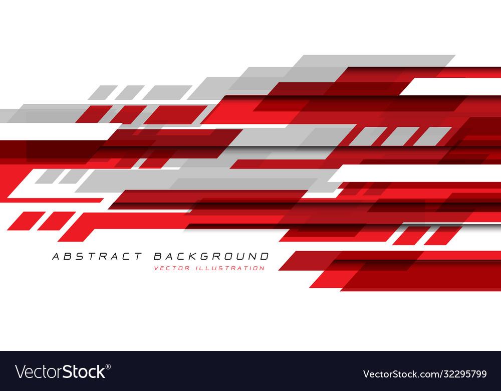 Red grey white geometric speed technology