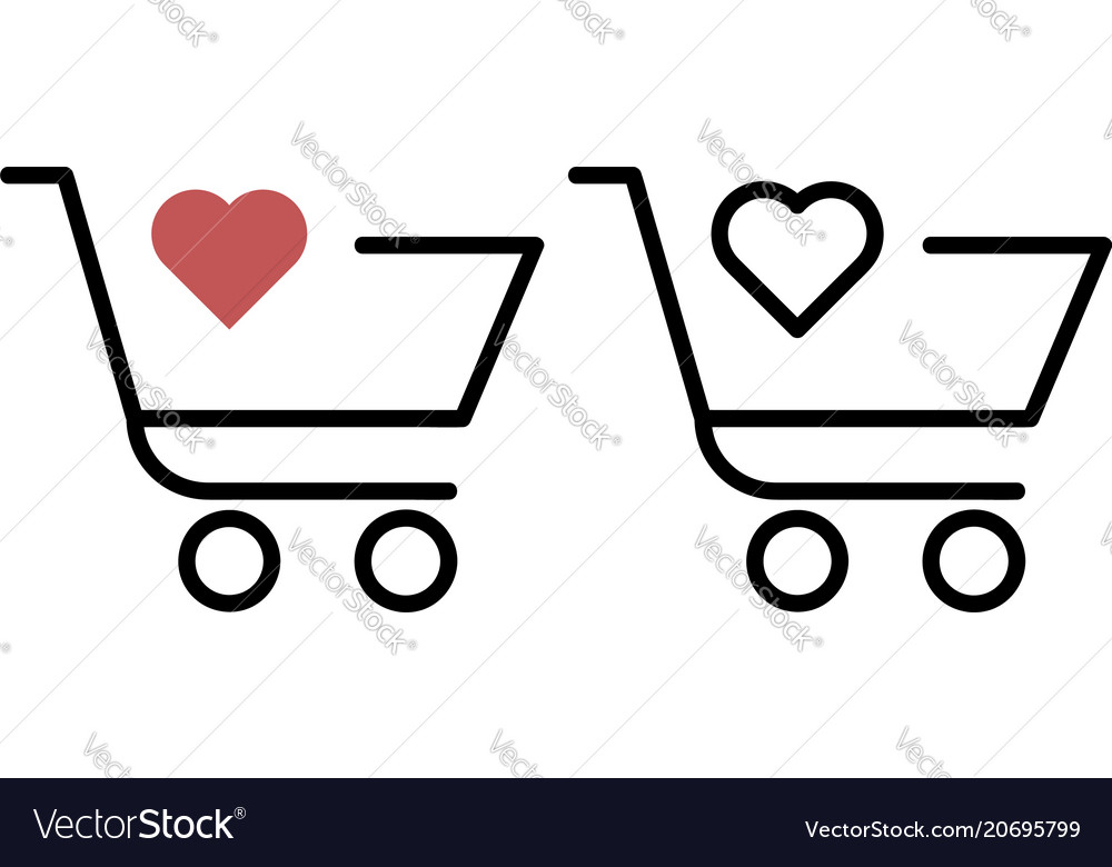 Shopping trolley with a heart