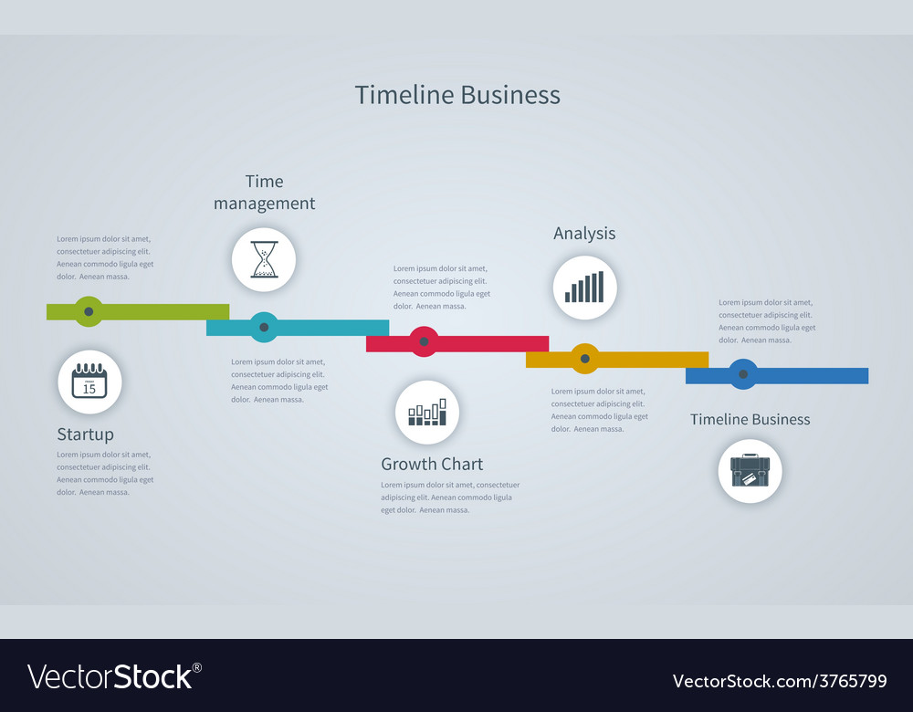 Timeline Infographic business with diagrams