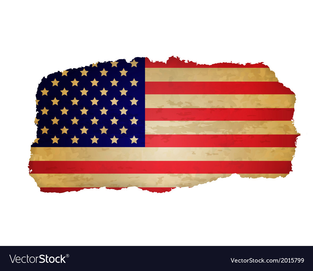 Usa Flag With Rip Paper