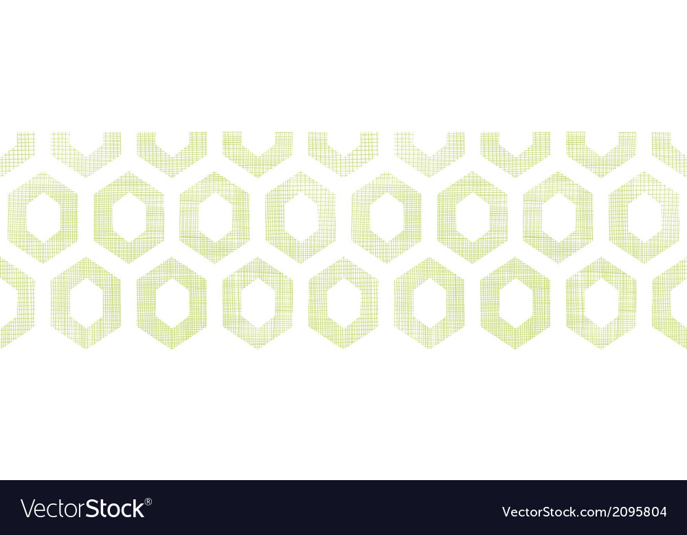 Abstract green fabric textured honeycomb cutout