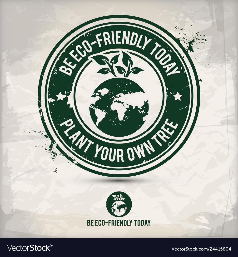 Alternative eco friendly tree stamp