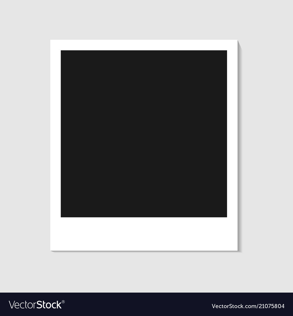 Blank photo polaroid frame isolated on white backg