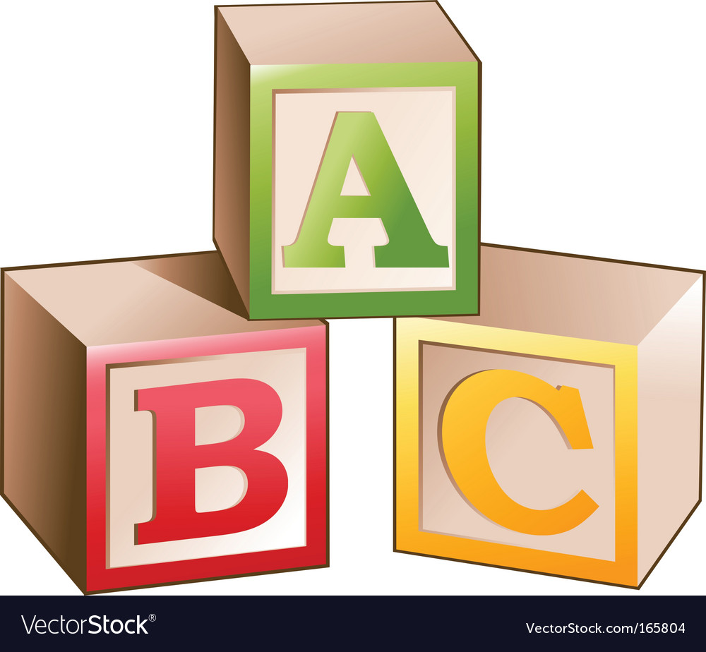 Blocks letters vector image
