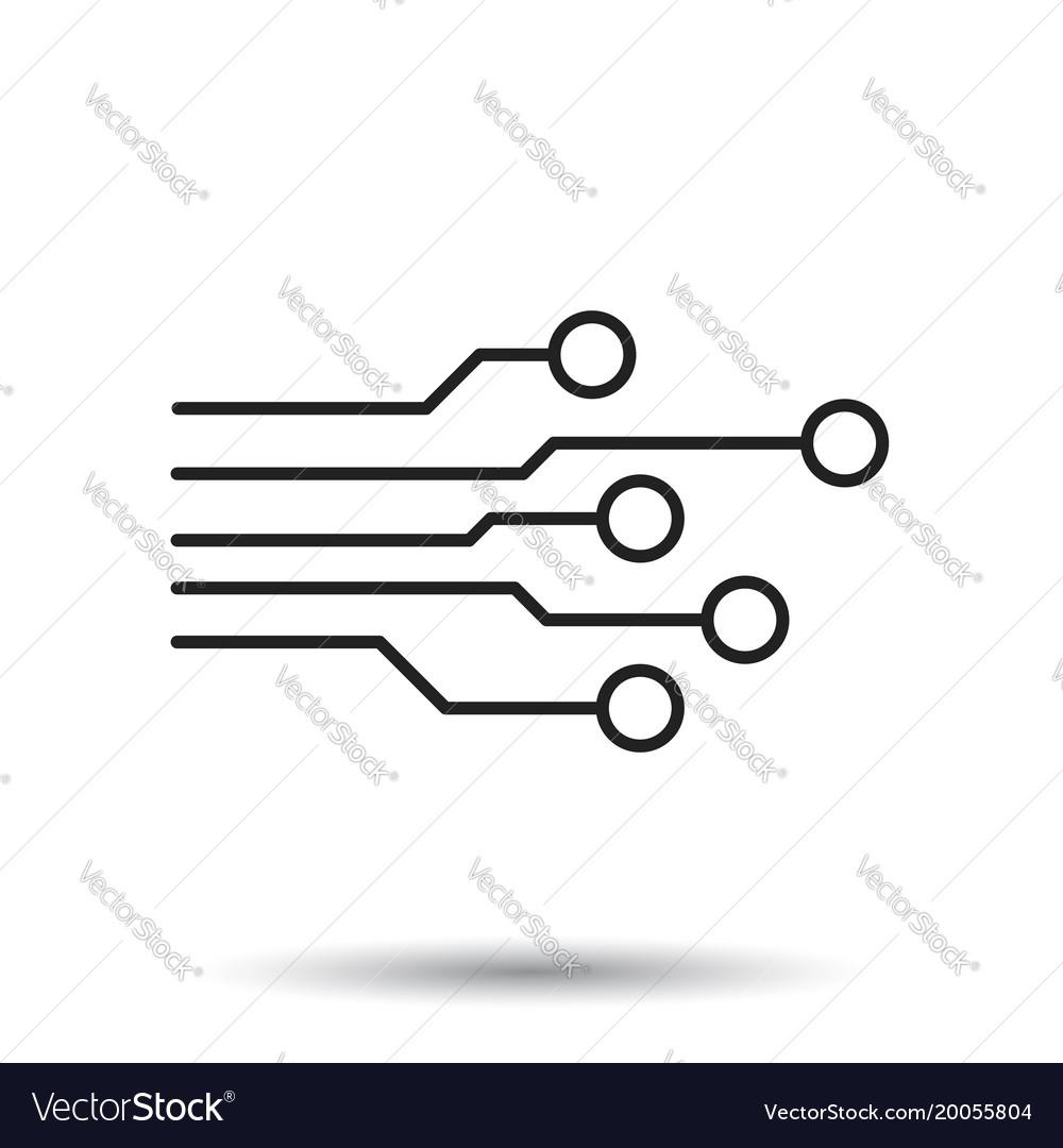 circuit board icon technology scheme symbol flat vector image rh vectorstock com vector circuit board circle circuit board vector background