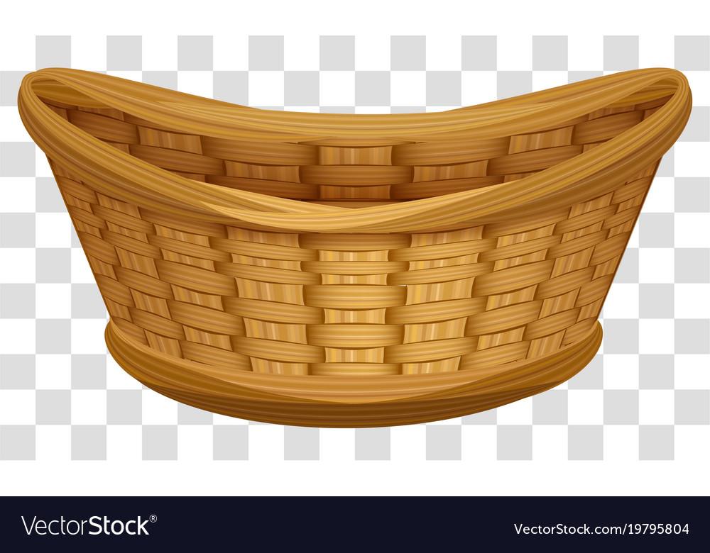 Empty Laundry Basket Clipart Empty wicker ba...